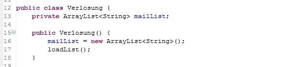 Kleines Java-Programm für die Auslosung 01