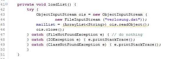 Kleines Java-Programm für die Auslosung 02